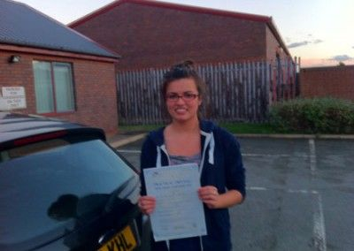 Jean Kirkbride of Old Colwyn passed today at Rhyl Driving Test Centre 17th November 2012