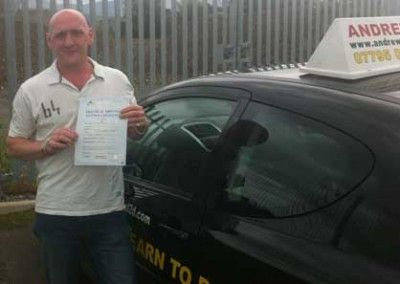 Robert Woodward Passed the Driving Test first time at bangor today 23rd August 2012