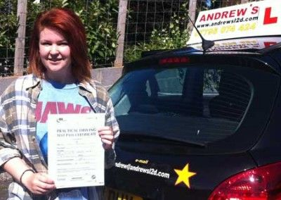 Beth Carrabine Passed the Driving Test at bangor today 20th August 2012