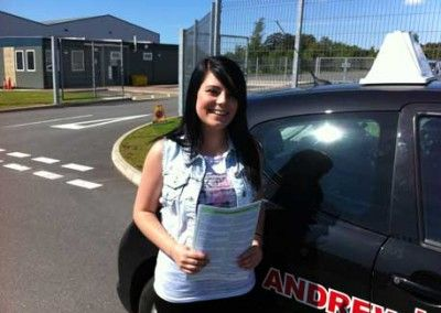 Nichola Crocker from Conwy, Passed driving test at Bangor today 19th June 2012