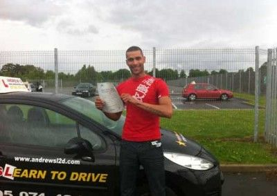 Samora Hughes of Penmaenmawr Passed driving test first time at Bangor today 7th June 2012
