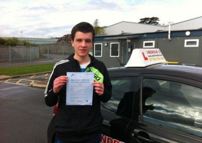 Dominik Spirydowicz passed his test at Bangor Driving Test Cenctre today 23rd April 2012