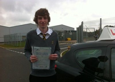 Jamie Kendall LLandudno Junction passed his driving test first time at Bangor Driving Test Cenctre today 18th April 2012