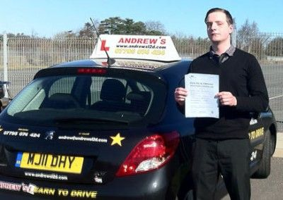 Stephen Roberts Conwy Passed first time in Bangor 26th march 2012
