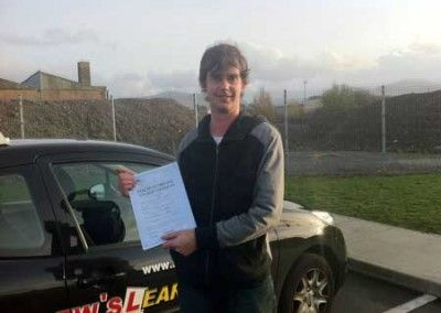 Steve Thomas Dwygyfylchi First Time Pass at Bangor driving test centre