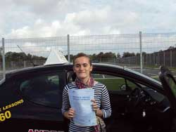 Maggie Williams Llanfairfechan first time pass at Bangor driving test centre