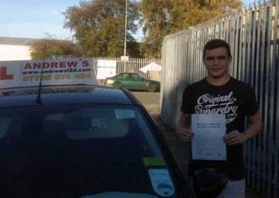 Liam Mckevitt of Conwy North Wales passed his driving test today 29th October 2014 at Bangor Driving test centre