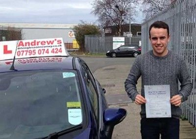 Ben from Dwgyfylchi Passed driving test at Bangor on 2nd April 2015