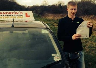 Liam Deacon of Llandudno Junction passed first time at Bangor today February 26th 2014