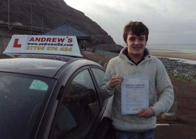 Joe Bailey of Penmaenmawr, Passed first time today January 27th 2014