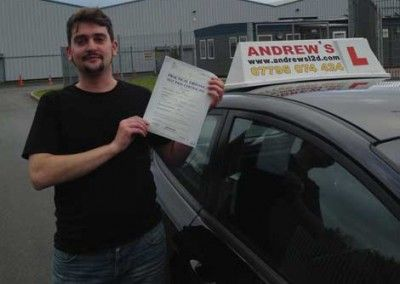 Pete Davis of Penmaenmawr passed first time November 21st 2013