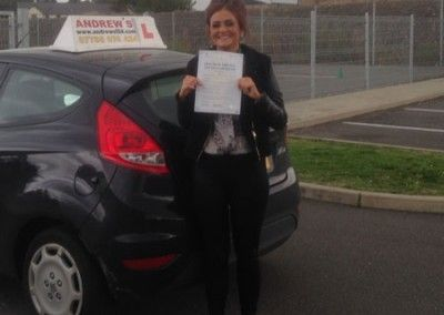 Sophia Creamerof Conwy Passed Driving test at bangor 8th October 2013