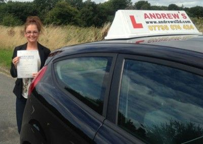 Chloe Smith Passed first time today 19th August 2013 at Bangor test centre