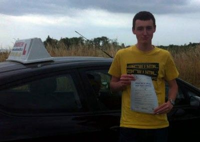 Alex Gough of Llandudno , Conwy Passed today July 23rd at Bangor test centre