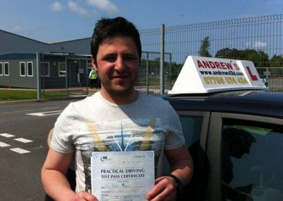 Murat Baser of Llandudno Junction, Conwy Passed today June 25th at Bangor test centre
