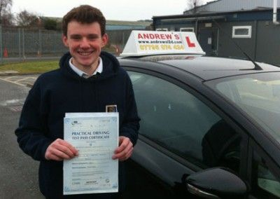 Tim Cunningham of Llanfairfechan passed first time today at Bangor Driving Test Centre 25th January 2013