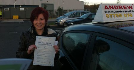 Sammi Baker of Conwy passed today at Bangor Driving Test Centre 8th December 2012