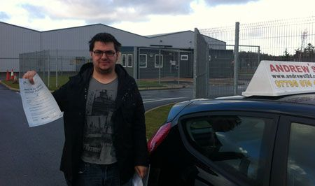 Jon Houston of Conwy passed first time today at Bangor Driving Test Centre 4th December 2012