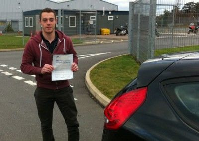 Chris Hughes of Penmaenmawr passed first time today at Bangor Driving Test Centre 28th November 2012