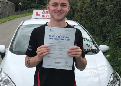 Ash from Deganwy passed first time August 22nd 2017.