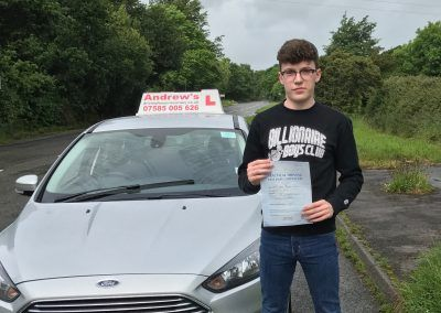 Callum Aldersey-Williams from Glan Conwy passed at Bangor 8th June 2017
