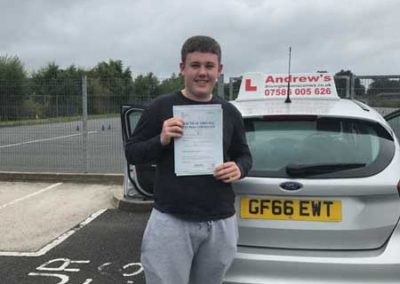 Cameron Short from Llandudno Junction passed with just 1 minor September 7th 2017.
