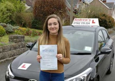 Erin Cross passed at Bangor on 19th April 2017.
