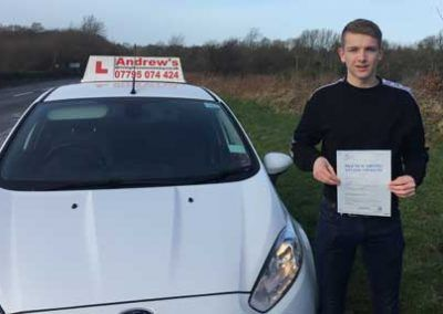 Harry Benjamin from Dwgyfylchi North Wales passed first time on 6th March 2017