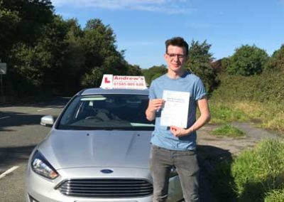 Harry Barlow Edwards passed his driving test 19th September 2017.