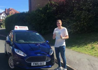 John Byrne passed his driving test on  28th July 2017.