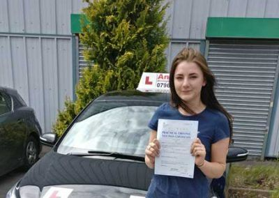 Katie Coates from Glan Conwy  Passed first time at Bangor 12th June 2017.