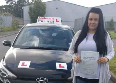 Leanne Evans from Penrhyn Bay passed with just 2 minors 9th September 2017.