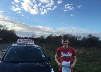 Liam Taylor Passed test in Bangor today 7th December 2015
