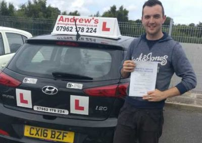 Michael Tidmarsh passed first time 23rd August 2017