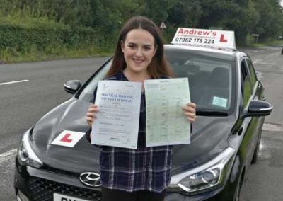 Tara Davies passed with no minors 10th July 2017