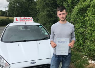 Aled Samuel from Old Colwyn passed first time at Rhyl 26th June 2017