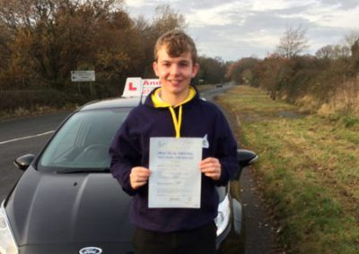 Aled Hughes from Penrhyn Bay passed in Bangor on 5th December 2016