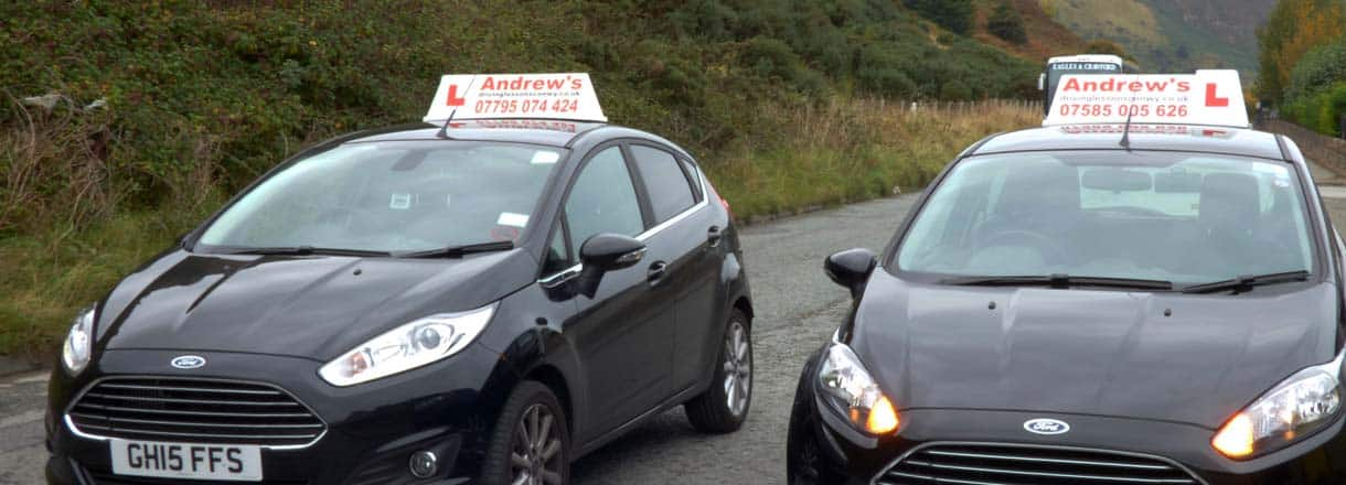 Andrew's driving school Cars which are seen around Llandudno on Driving Lessons