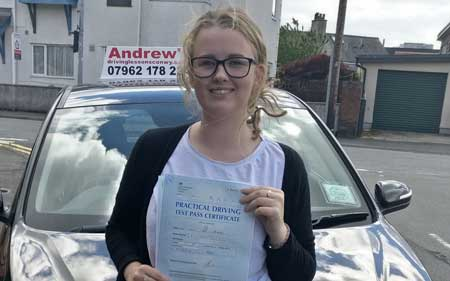 Chloe Anne Pritchard from Llandudno Junction  Passed First Time 6th June 2017