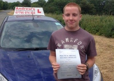 Alex from Old Colwyn passed driving test in Bangor on 1st July 2015