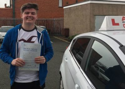Daniel Owen from Colwyn Bay passed first time in Rhyl 31st January 2017.