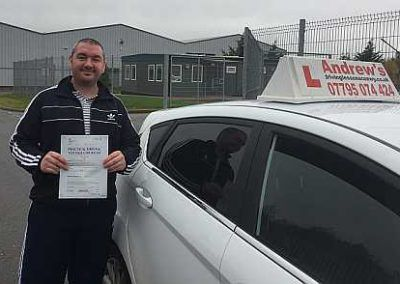 Daniel Smith  from Llandudno passed first time on 14th November 2016