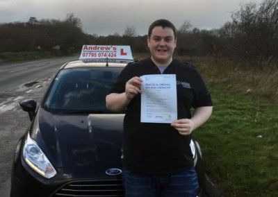 Dan Jones from Deganwy passed first time in Bangor on 8th December 2015.