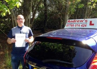 Mark Thomson from Colwyn Bay Passed First time in Bangor on 12th June 2015