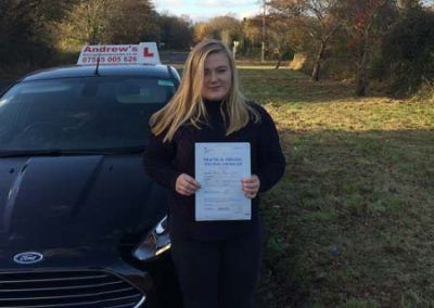 Gabby Williams from Dwygyfylchi passed first time at Bangor 28th November 2016