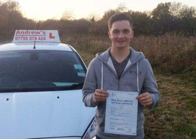 George Mayne Llandudno Junction passed first time  Bangor 28th November 2016