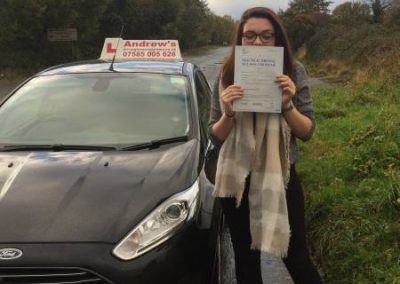 Harriet Abbot passed first time 9th november 2016