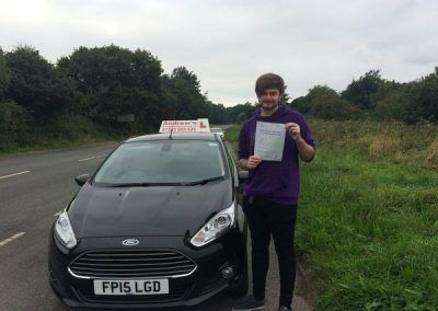 Kieran Westell from Conwy Passed First Time at Bangor 15th September 2016