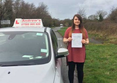 kirstie leigh Jordan from Llandudno passed first time in Bangor on 9 March 2017