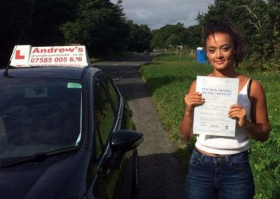 latifa from Penmaenmawr passed first time at Bangor on 9th September 2016